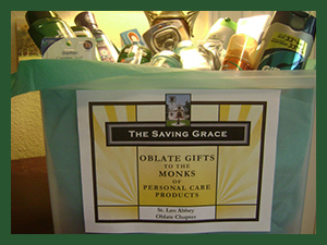 The Saving Grace Program ihelps the monks and is a good way to remember the abbey when we plan our shopping trips